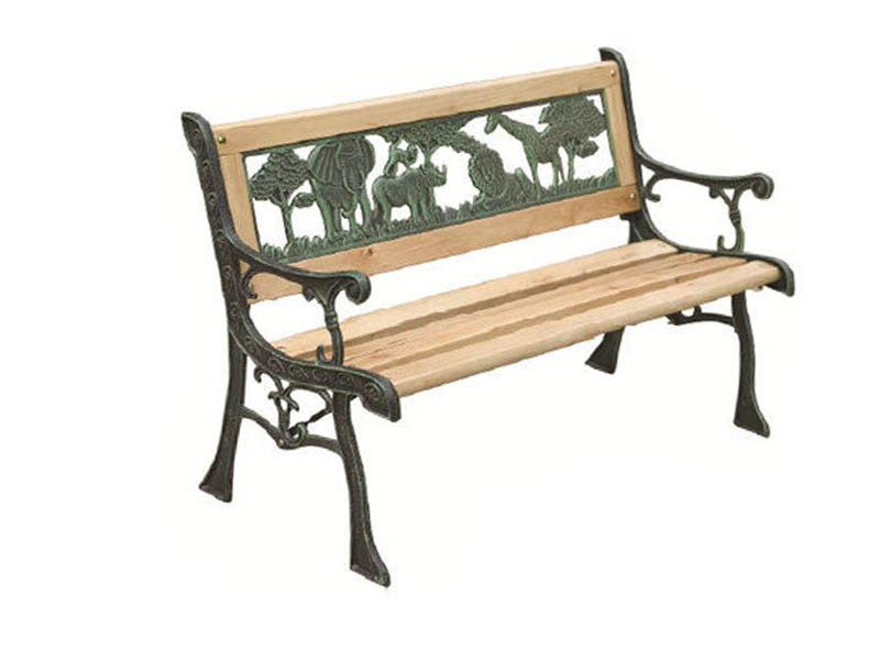 3 Seater Metal Wooden Garden Outdoor Lattice Back Park Bench Furniture Kid Adult