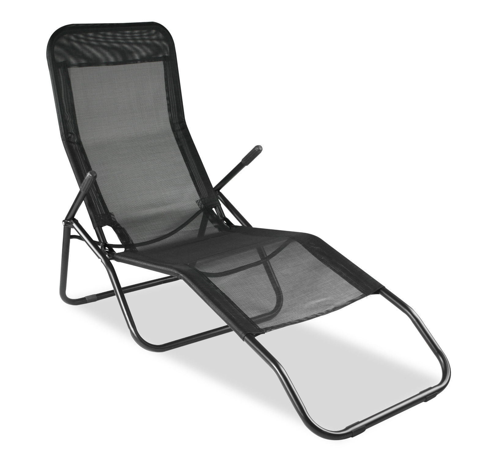 NEW GARDEN RECLINER CHAIR FOLDING SUN LOUNGER W ARMREST