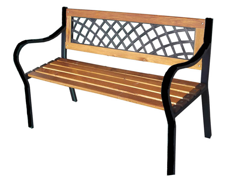 3 Seater Metal Garden Bench 3 Seater Metal Wooden Garden Outdoor Lattice Back Park