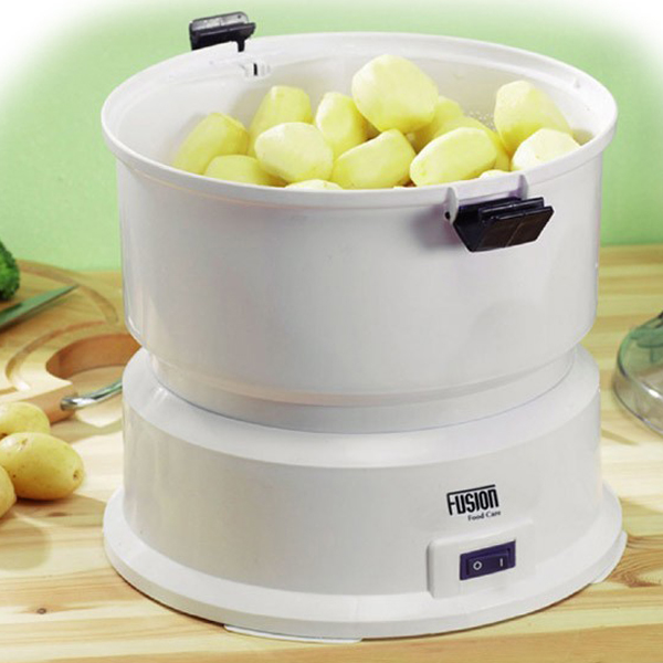 Electric Potato Slicer ~ New automatic electric fusion potato peeler home kitchen white