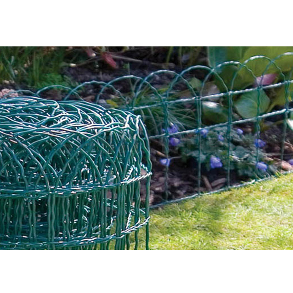 GARDEN GREEN PVC COATED BORDER FENCE WIRE MESH 10M 20M 30M 40M X FENCIN