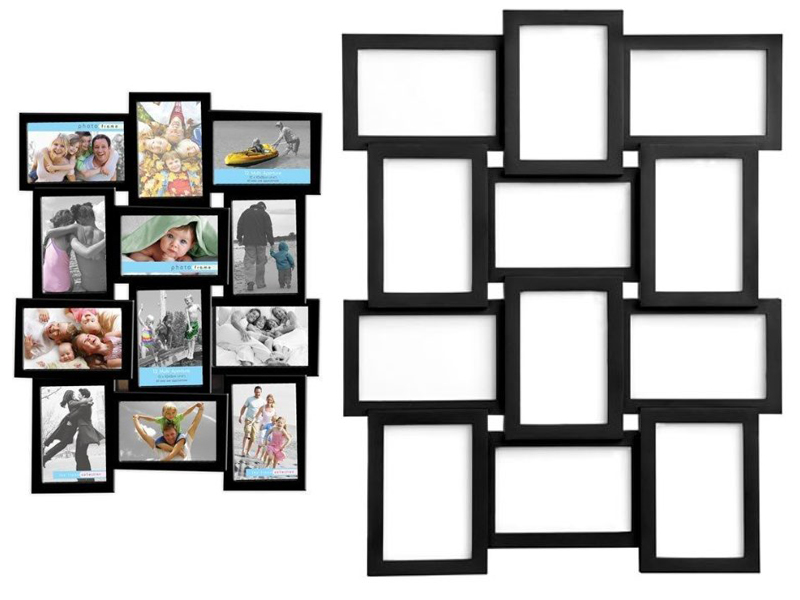 NEW STYLISH PHOTO PICTURE FRAME HOLDS 12 PHOTOS APERTURE MULTI COLLAGE 4 x 6