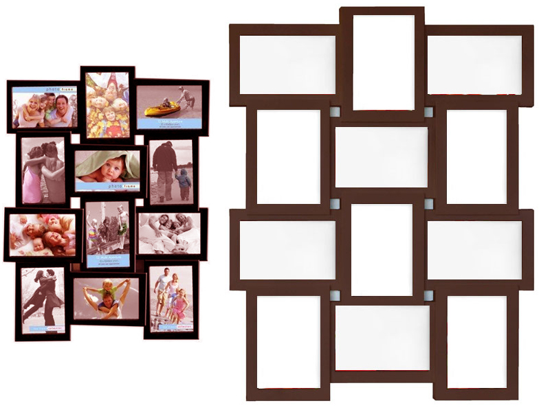 new stylish photo picture frame holds 12 photos aperture multi collage 4 x 6 ebay. Black Bedroom Furniture Sets. Home Design Ideas