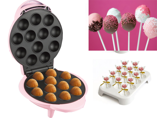 cake pop maschine elektrisch 12 party pops lolli kuchen donut l cher muffin neu ebay. Black Bedroom Furniture Sets. Home Design Ideas