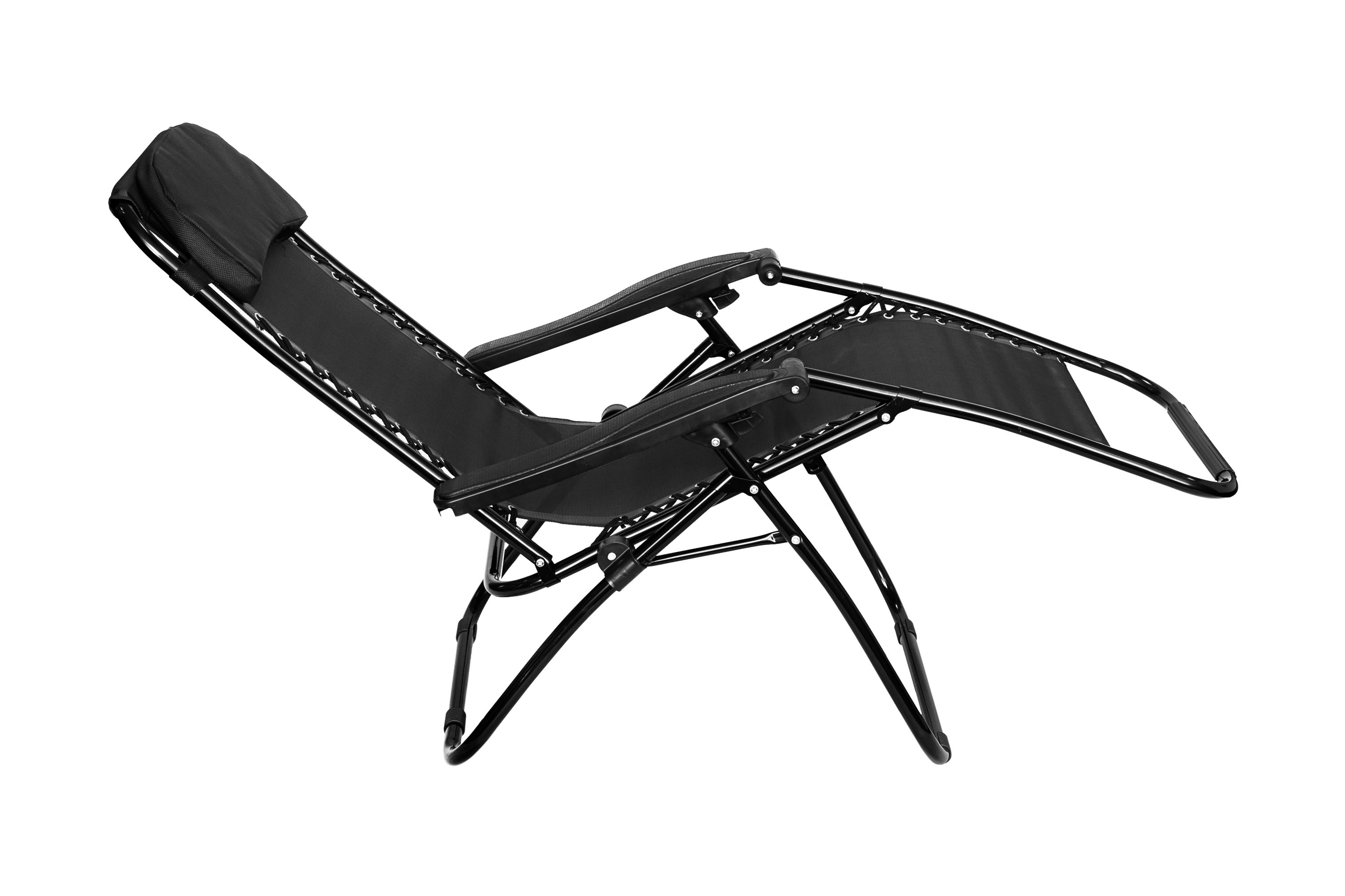 FOLDING GRAVITY SUN LOUNGER CHAIR RECLINER GARDEN SUN DECK BED RECLINING  OUTDOOR