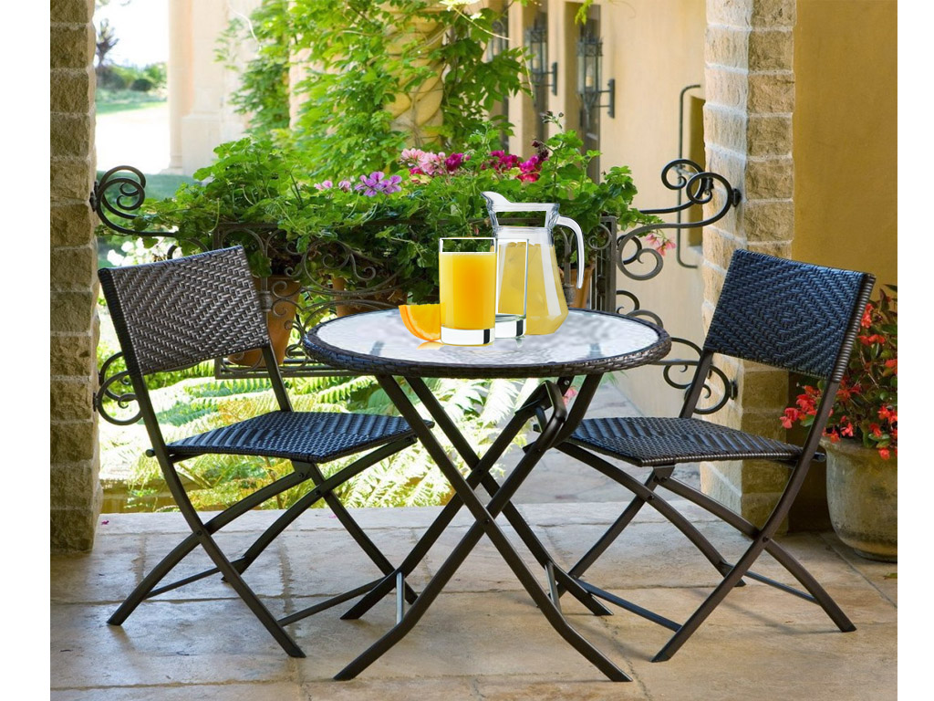 garden patio furniture conservatory tempered glass table 2 chairs set