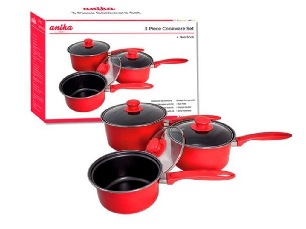 Dettagli su ROSSO CUCINA 5PZ Utensil Set / 3PZ Cookware Set / S / S ...