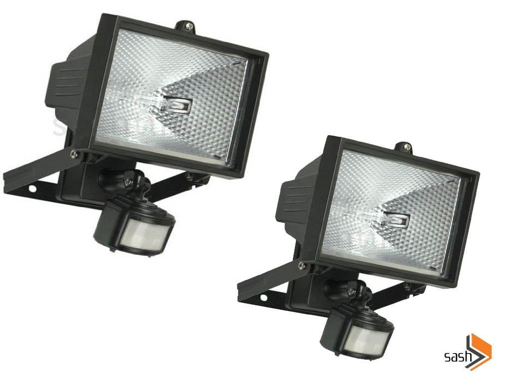 2 X 500w Sensor Light Security Watt Floodlight Outdoor