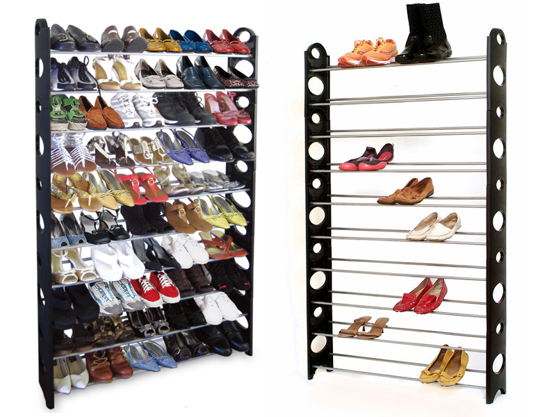 Everyday Shopaholic: 50 Pairs of Shoes - Shoe Rack. love this set up for