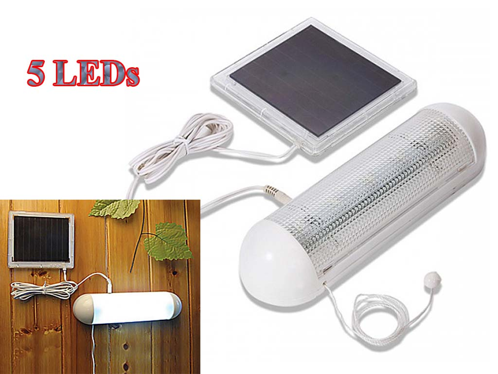white led solar rechargeable garage shed light garden outdoor security. Black Bedroom Furniture Sets. Home Design Ideas