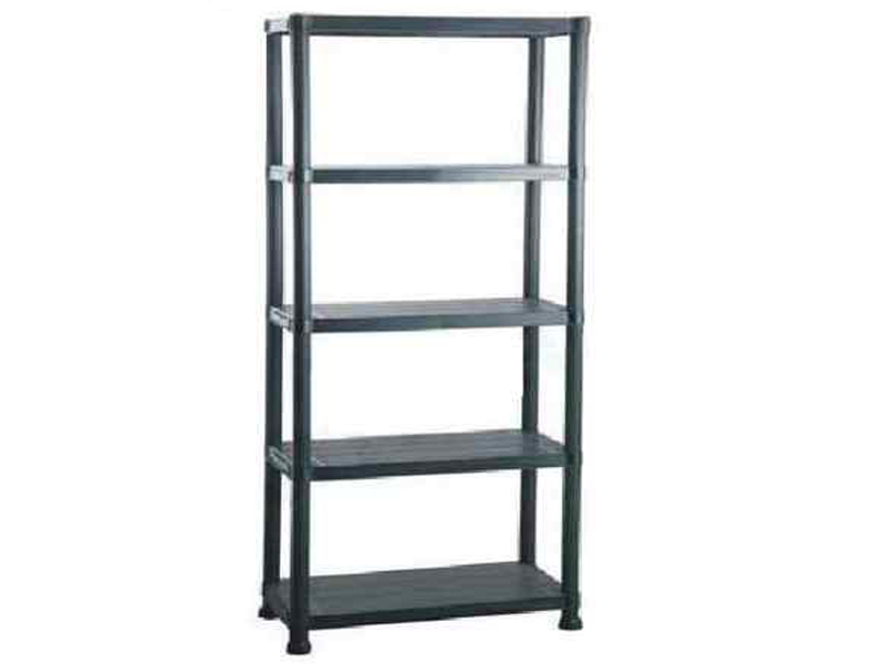 5 Tier Black Plastic Shelving Shelves Storage Unit New Ebay