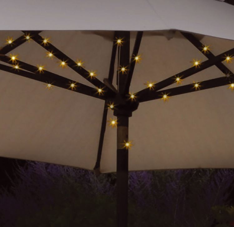 String Lights For Umbrella : NEW 72 LED SOLAR GARDEN PARASOL UMBRELLA CHAIN LIGHT 8 STRUT FAIRY STRING LIGHTS eBay