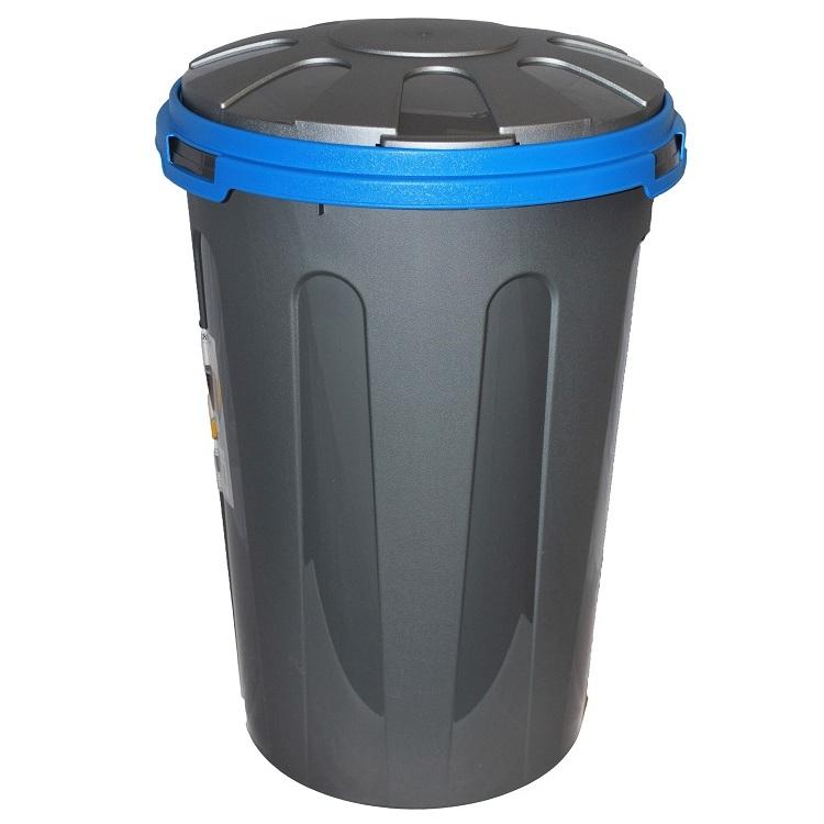 28 litre large grey plactic recycle dustbin waste bin. Black Bedroom Furniture Sets. Home Design Ideas