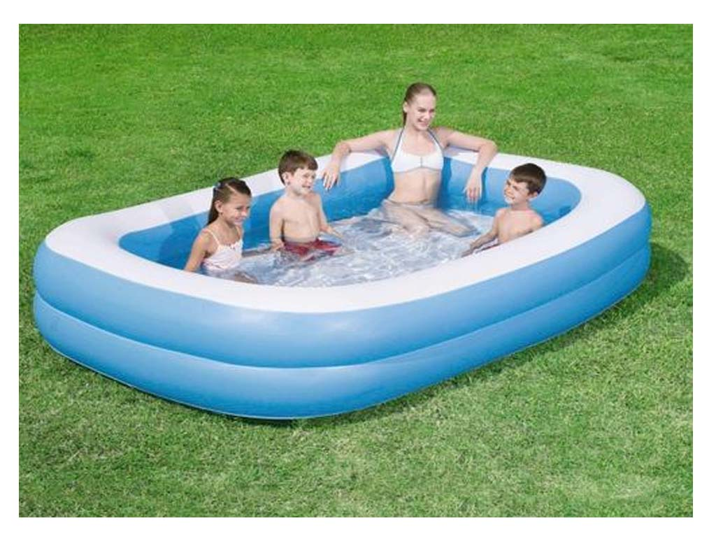 New large jumbo deluxe rectangular inflatable family for Large paddling pool