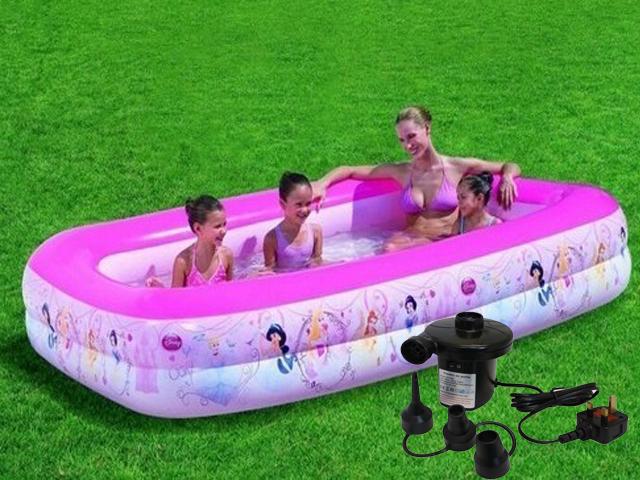 Disney Inflatable Princess Rectangular Family Paddling Swimming Pool With Pump Ebay
