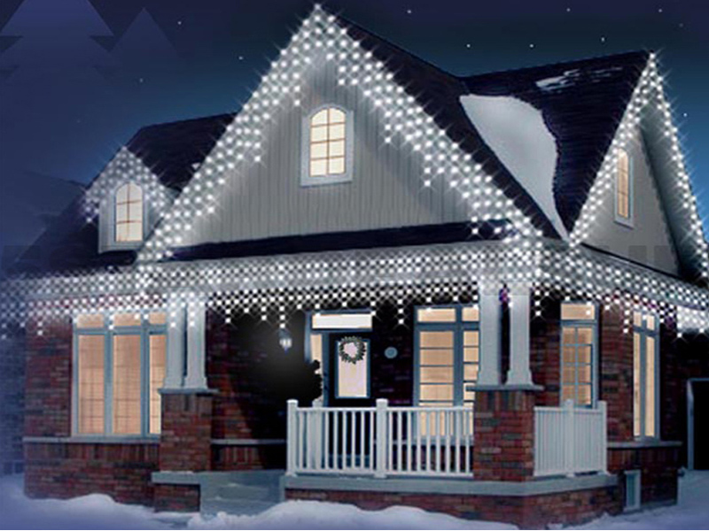 NEW CHRISTMAS 720 LED SNOWING ICICLE BRIGHT PARTY WEDDING XMAS OUTDOOR LIGHTS