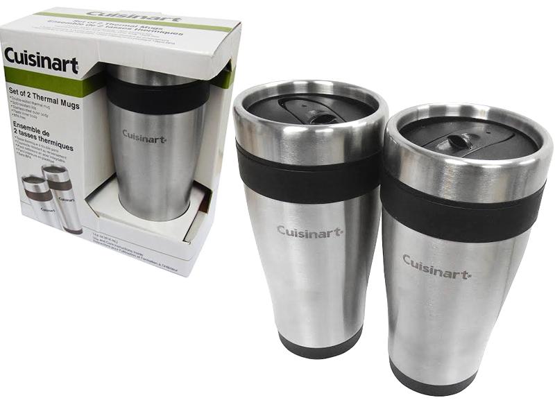 Cuisinart Coffee Maker Travel Mug : SET OF 2 CUISINART INSULATED THERMAL TRAVEL COFFEE FLASK MUG DRINK WARM BPA FREE eBay