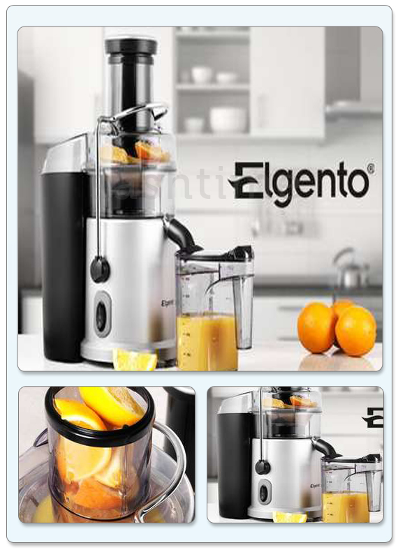 General Electric Juicer ~ Elgento electric professional whole fruit vegetable juicer
