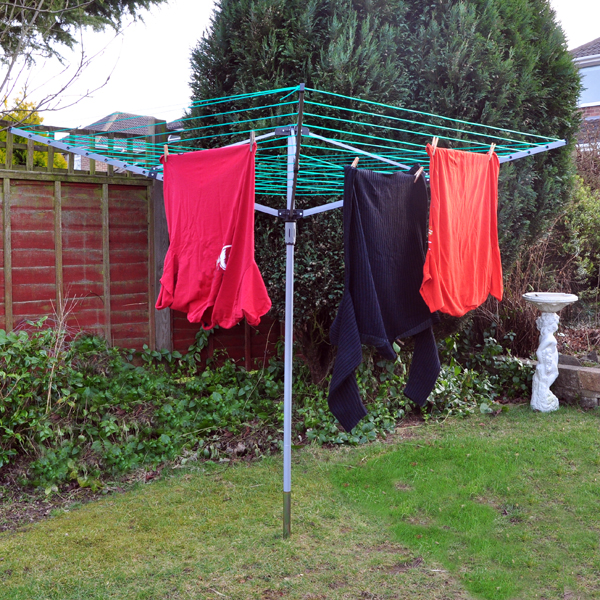 New 4 Arm Rotary Washing Line 3 Tier 18m Horse Clothes