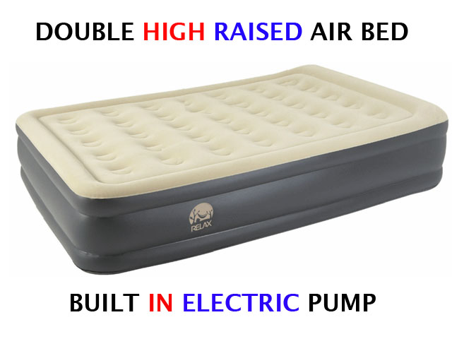Inflatable High Raised Double Air Bed Mattress Airbed W