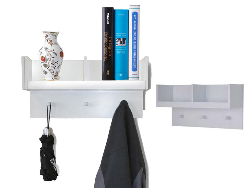 wooden 2 compartment hallway storage book shelf hooks wall. Black Bedroom Furniture Sets. Home Design Ideas