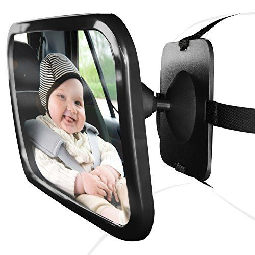large wide view rear baby child car seat safety mirror adjustable headrest mount ebay. Black Bedroom Furniture Sets. Home Design Ideas
