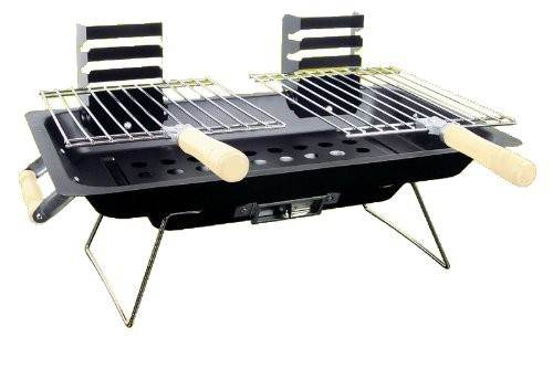 New stainless steel hibachi portable charcoal bbq grill
