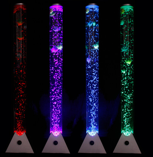 Rope Lights Sensory: COLOUR CHANGING LED LAMP SENSORY MOOD BUBBLE WATER TOWER