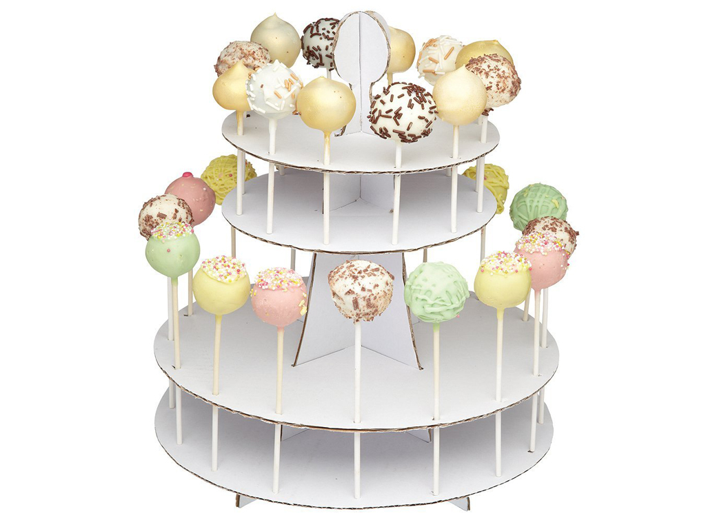 Decor Cake Holder : 2 TIER 28 CAKE POP DISPLAY STAND WHITE CARDBOARD HOLDER PARTY TABLE DECORATING eBay