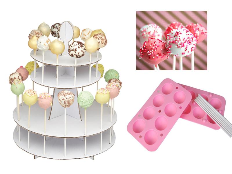 Decorating Cake Pops Uk : 2 TIER CAKE POP DECORATING DISPLAY STAND WHITE CARDBOARD ...