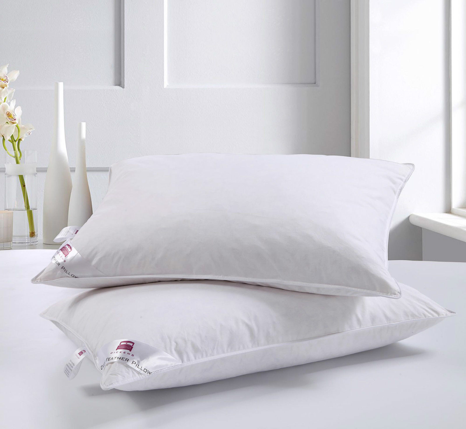Old fashioned heavy feather pillows 55