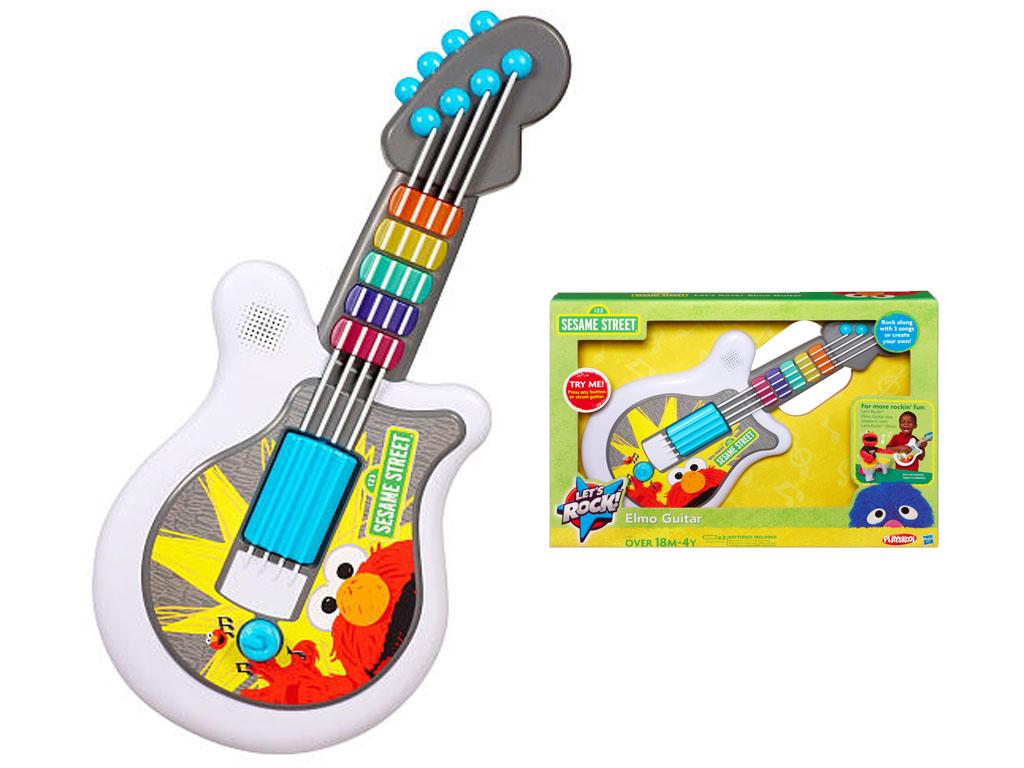 Sesame Street Musical Toys : Children playskool sesame street let s rock elmo guitar