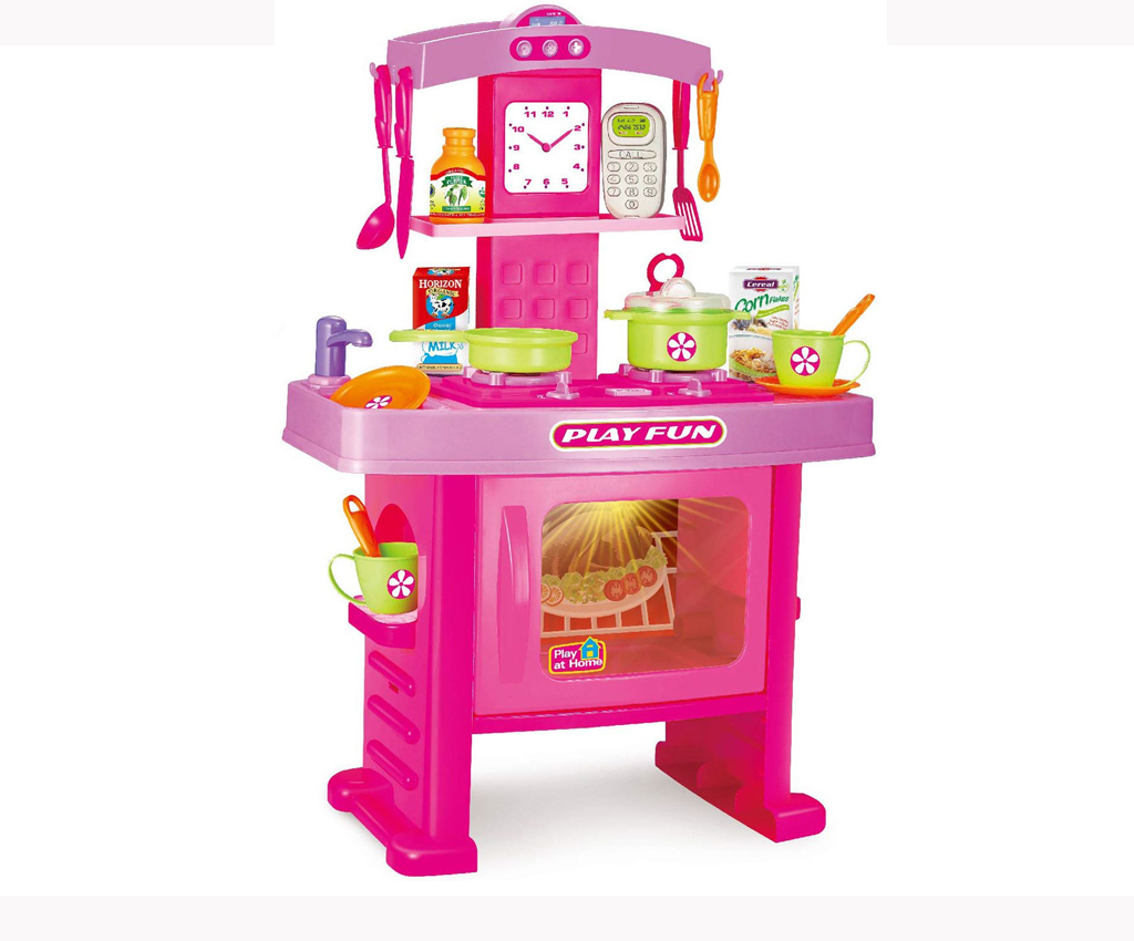 19pc electronic kitchen cooking oven children 39 s play set for Electronic kitchen set