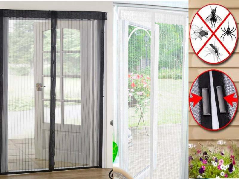 Magic Curtain Door Mesh Magnetic Hands Free Fly Mosquito Bug Insect Screen Ebay