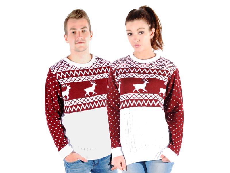 Unisex pullover herren damen weihnachten fairisle retro schneemann rentier ebay - Fair isle pullover damen ...