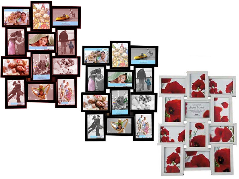 4 By 6 Collage Frames: NEW STYLISH PHOTO PICTURE FRAME HOLDS 12 PHOTOS APERTURE