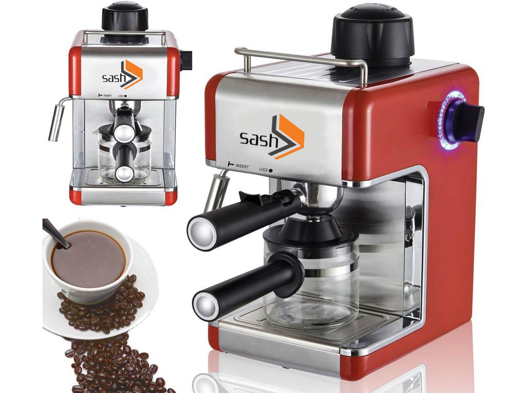 PROFESSIONAL ESPRESSO CAPPUCCINO COFFEE MAKER MACHINE BEAN HOME OFFICE RED/BLACK eBay