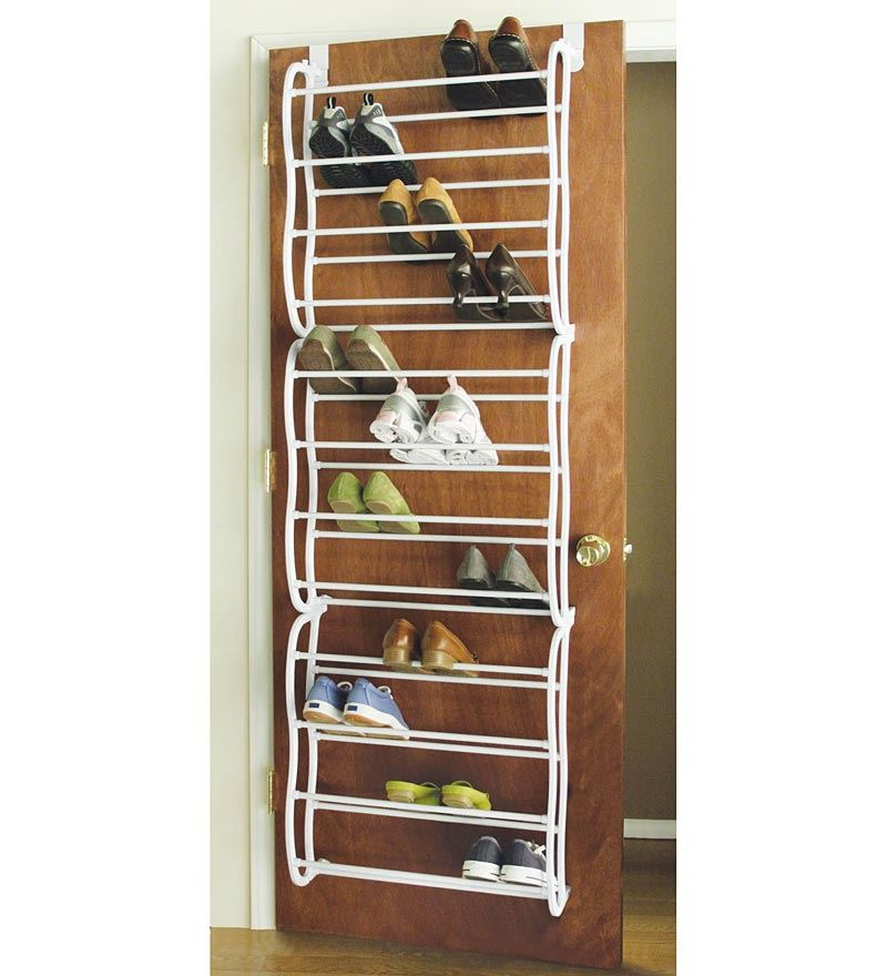 36 pair over the door hanging shoe hook shelf rack holder