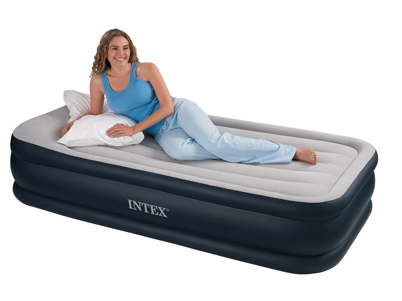 Inflatable high raised single air bed mattress airbed w - Matelas gonflable ez bed ...