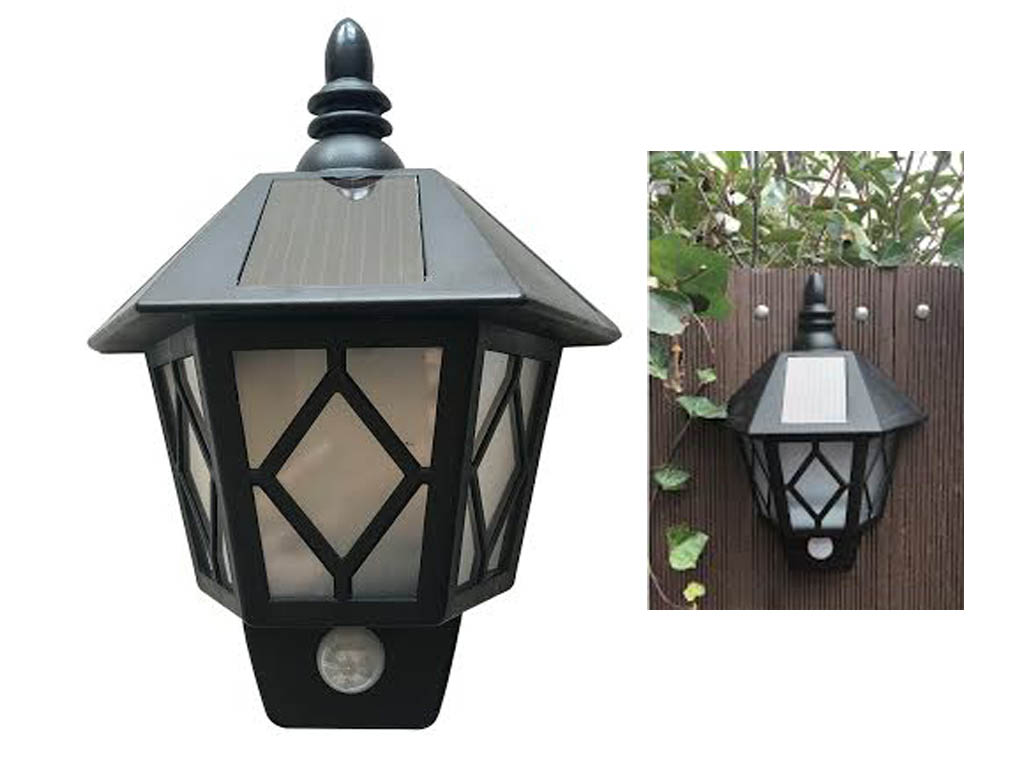 NEW SOLAR WALL MOUNTED LED PIR MOTION SENSOR SECURITY GARDEN OUTDOOR PATIO LIGHT eBay
