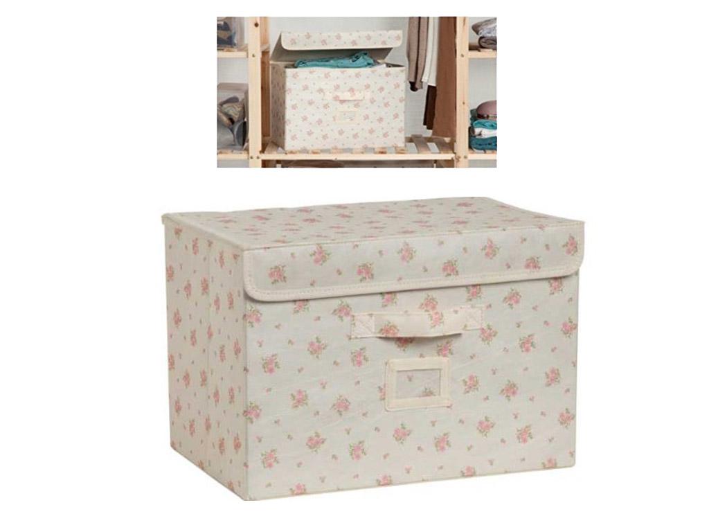 Vintage chintz canvas 9 section clothes shoe storage box organiser shelves ebay - Shoe box storage shelves ...