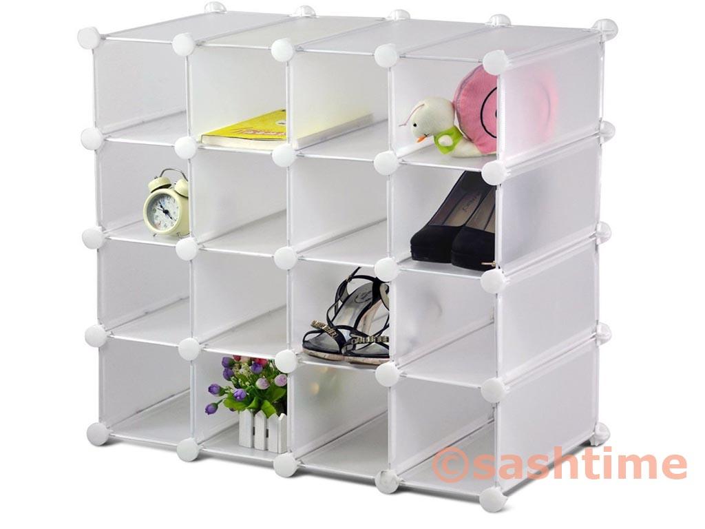 Exhibition Stand Storage : New interlocking pairs cube shoe organizer rack storage