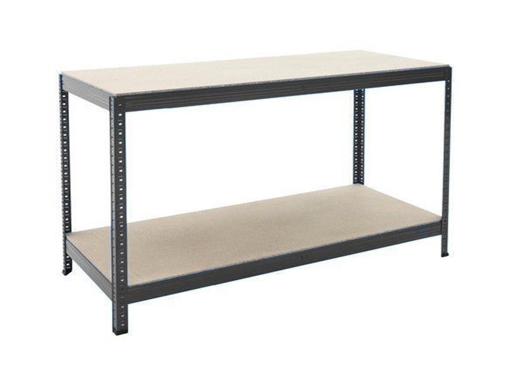 industrial heavy duty steel workbench table shelving
