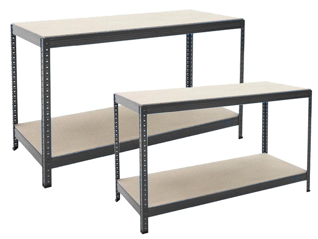 Industrial Heavy Duty Steel Workbench Table Shelving Garage Shed Storage Bench Ebay