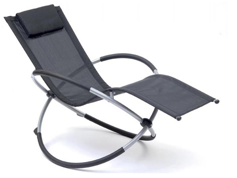 GRAVITY OUTDOOR RECLINER MOON ROCKER FOLDING SUN LOUNGER HAMMOCK CHAIR GARDEN