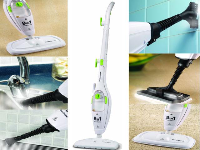 new morphy richards 9in1 upright handheld steam cleaner. Black Bedroom Furniture Sets. Home Design Ideas