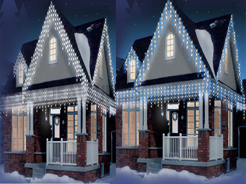 new christmas 480 led snowing icicle bright party wedding. Black Bedroom Furniture Sets. Home Design Ideas