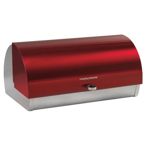 new morphy richards stainless steel roll top bread bin. Black Bedroom Furniture Sets. Home Design Ideas