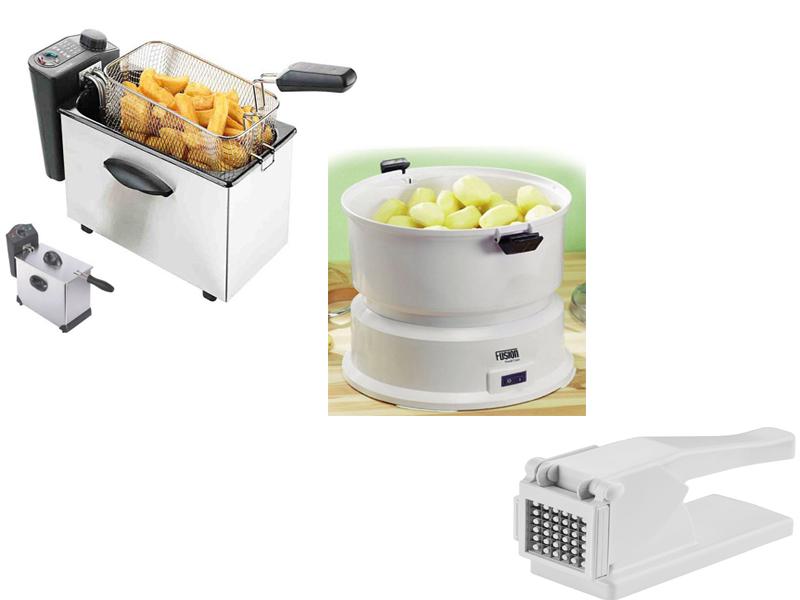 Electric Potato Slicer ~ Electric potato peeler deep fat fryer chipper
