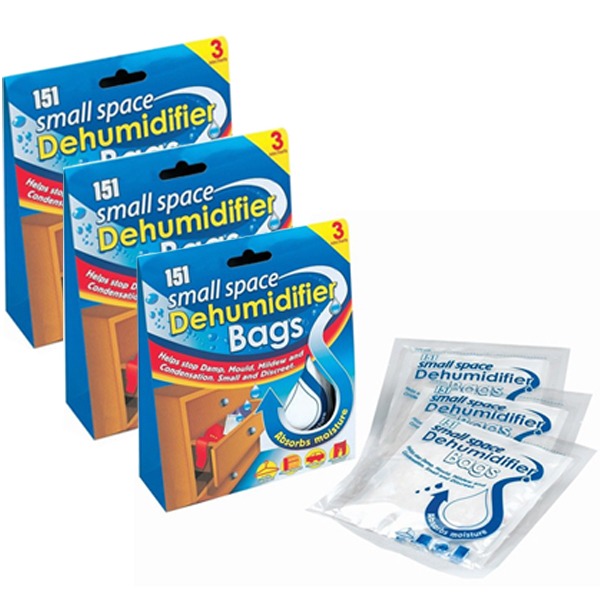 Pack of 9 small space dehumidifier bags stop damp mould absorb mositure mildew ebay - Small space dehumidifier bags set ...